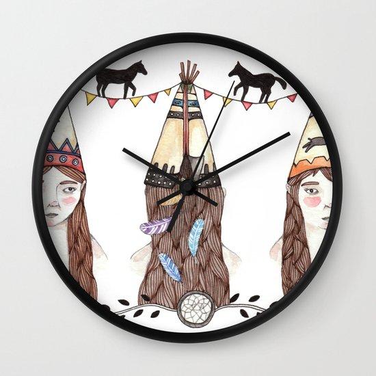 Tipi Party Wall Clock