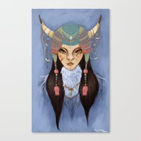 Mongolian Princess Canvas Print