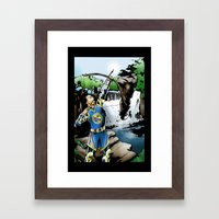 Steph Curry and the art of long range warfare Framed Art Print