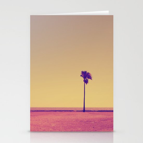 Four Palms In Paradise Stationery Card
