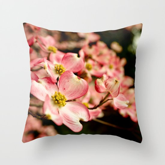 Close Encounter on a Spring Day Throw Pillow