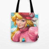 Peachy Princess Tote Bag