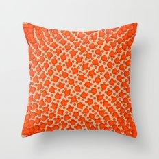 Fibo Orb Red Throw Pillow