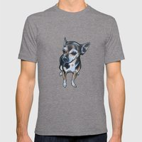 Artie the Chihuahua Mens Fitted Tee Tri-Grey SMALL
