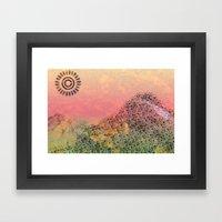 Mountain Series - Day-break Framed Art Print