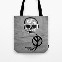 Love' skull -  a collaboration between Sam Guilhen and Gwenola de Muralt - Tote Bag