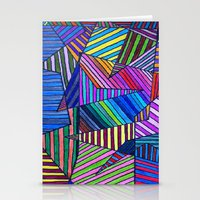 Colorful Lines Stationery Cards