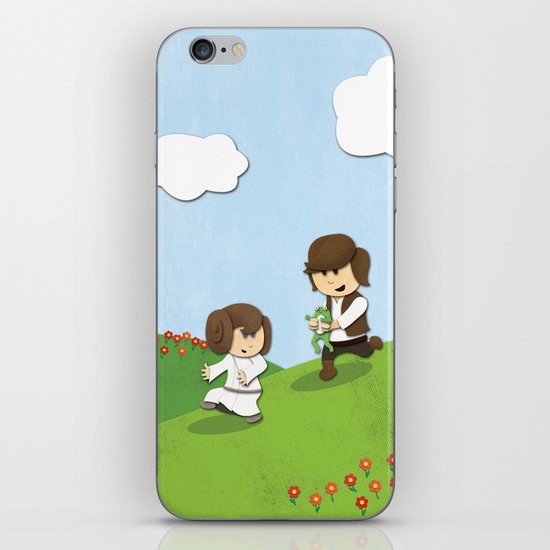 SW Kids - Han Chasing Leia iPhone & iPod Skin