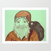 Jolly Old Santa Claus, M… Art Print
