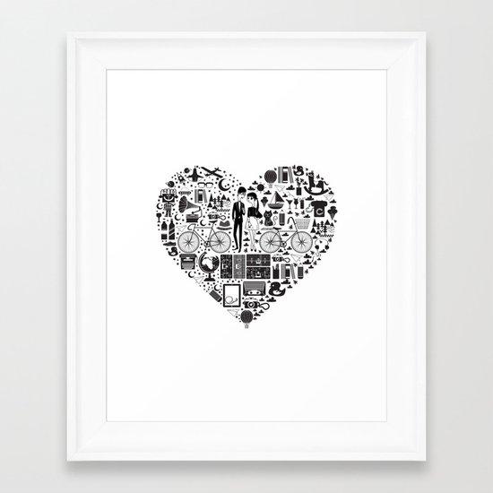 LIKES PATTERNS Framed Art Print