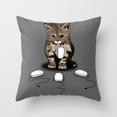 Eyes of cat Throw Pillow