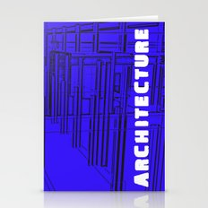 Architecture Blue Stationery Cards