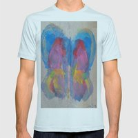 Pastel Ice Cream Butterf… Mens Fitted Tee Light Blue SMALL