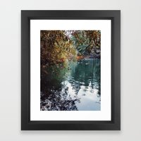 Heavenly Pond in Franklin Canyon Park, CA Framed Art Print