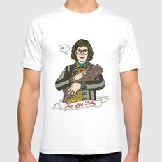 Twin Peaks (David Lynch) The Log Lady SMALL Mens Fitted Tee White