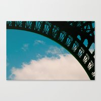 Detail Of Eiffel. Canvas Print