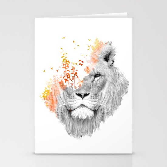 If I roar (The King Lion) Stationery Card