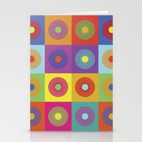 Vinyl Pop Art Stationery Cards