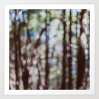 Mystify - Abstract Forest Landscape Art Print