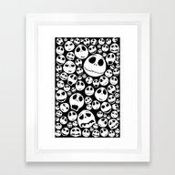 Halloween Jack Skellingt… Framed Art Print