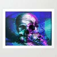 Skullking around Art Print