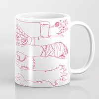 Classic Horror Hands (Red Line) Mug