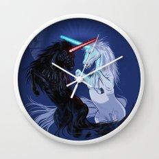 Starwars with Unicorns  Wall Clock