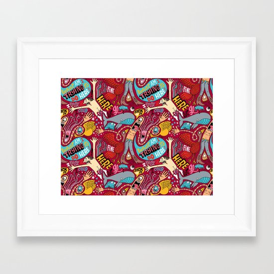 What am I Trying to do Here? Framed Art Print