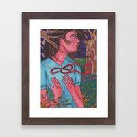 Mysterious Girl Framed Art Print