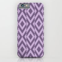 iPhone Cases featuring Broken Square Optical Stripes in Purple by Bakmann Art