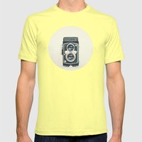 Yashica Mens Fitted Tee Lemon SMALL