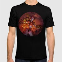 THE HALF DRAGON Mens Fitted Tee Black SMALL