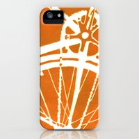 iPhone 5s & iPhone 5 Cases featuring Orange Bike by CAPow!