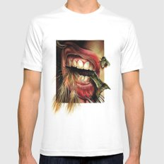 Animal Tomb  White Mens Fitted Tee SMALL