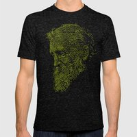 Muirly Trees Mens Fitted Tee Tri-Black SMALL