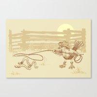 Cowbird Canvas Print