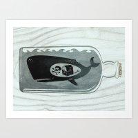 Whale In A Bottle | Trea… Art Print