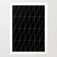 Black Triangles By Frizt… Art Print