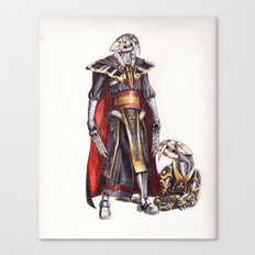 cyber saber toothed with his pet Canvas Print