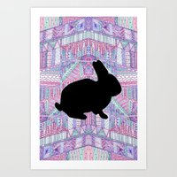 Rabbit Pattern Art Print