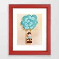 Flotando con mi imaginación Framed Art Print