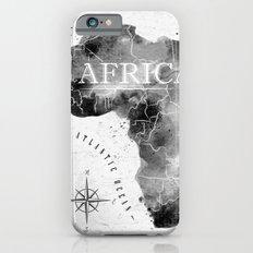 Black Africa Map Slim Case iPhone 6s