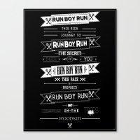 Run Boy Run Poster Canvas Print