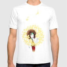 Bloom White SMALL Mens Fitted Tee
