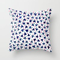 Confetti Triangles Throw Pillow