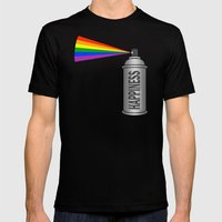 Happiness Spray Can - Ra… Mens Fitted Tee Black SMALL