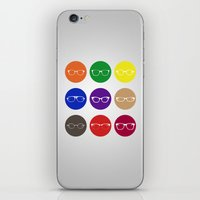 9 Glasses Styles iPhone & iPod Skin