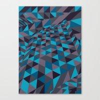 Triangulation (Inverted) Canvas Print