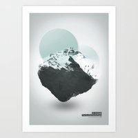 Mt. Everest - The Surrea… Art Print