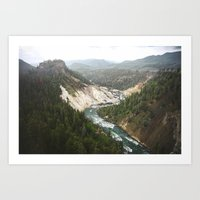 Carved River Art Print